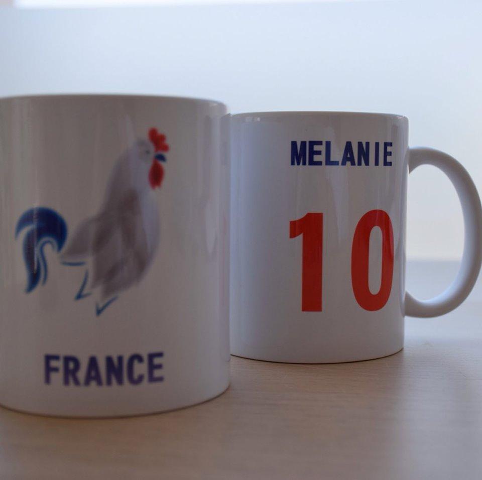 Mugs réalisés par abicone à l'occasion de la coupe du Monde Féminine